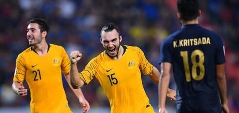 D'Agostino (số 15) là cầu thủ đầu tiên tại VCK U23 châu Á năm nay ghi nhiều hơn 1 bàn thắng trong 1 trận đấu