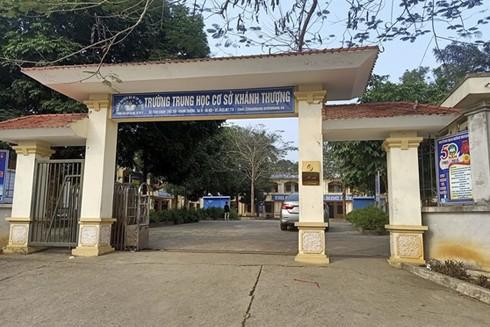 Trường THCS Khánh Thượng, nơi có một số nữ sinh bị lừa ép bán dâm ở Ba Vì