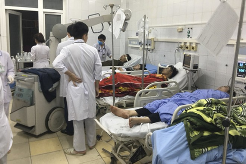Nạn nhân vụ cháy tòa nhà Dầu khí Thanh Hóa nằm điều trị tại Bệnh viện Đa khoa tỉnh Thanh Hóa