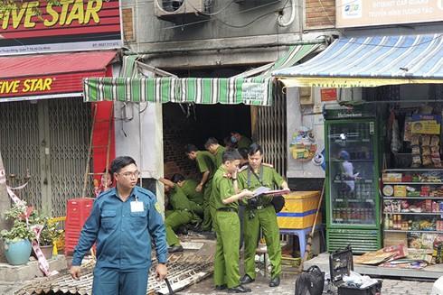 Hiện trường vụ hỏa hoạn trên đường Võ Thị Nhờ làm 3 người thiệt mạng