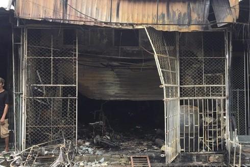 Hiện trường vụ hai mẹ con tại Hải Dương tử vong thương tâm do mắc kẹt trong ngôi nhà đang bốc cháy