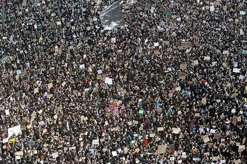 Cuộc biểu tình chống phân biệt chủng tộc diễn ra ở Berlin, Đức (Nguồn: AFP)