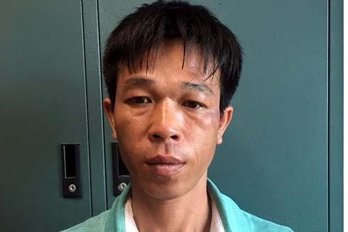 Đối tượng Doãn Phi Hùng tại cơ quan công an