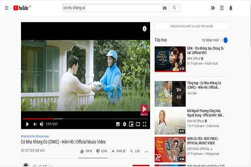 Trung bình một video âm nhạc thịnh hành trên YouTube của nghệ sĩ Việt có thể đạt vài chục triệu lượt xem