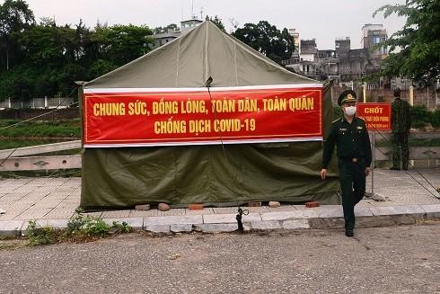 Chốt kiểm soát khu vực biên giới của đồn Biên phòng Bắc Sơn