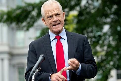 Ông Peter Navarro phát biểu tại Nhà Trắng hồi tháng 6