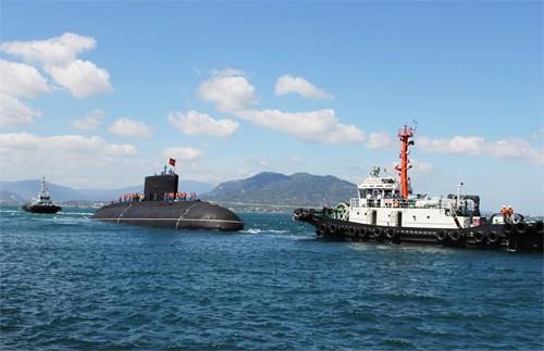 Hình ảnh tàu ngầm Kilo Việt Nam chào Xuân Ất Mùi ảnh 9