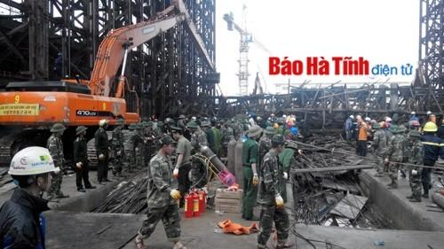 Vụ tai nạn ở Formosa (Hà Tĩnh): Huy động mọi nguồn lực, phương tiện cứu hộ người mắc kẹt ảnh 8