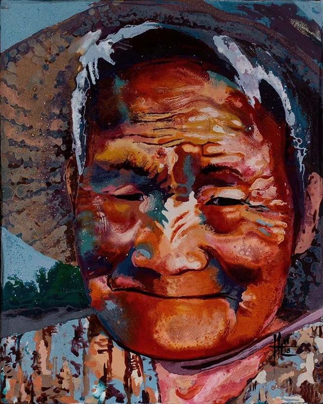 Một người Mỹ đưa phụ nữ Việt lên tranh sơn mài ảnh 3