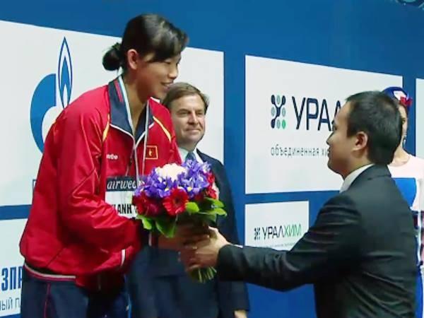 Tuyệt vời: Ánh Viên đoạt Huy chương đồng Cúp thế giới 2015 ảnh 6