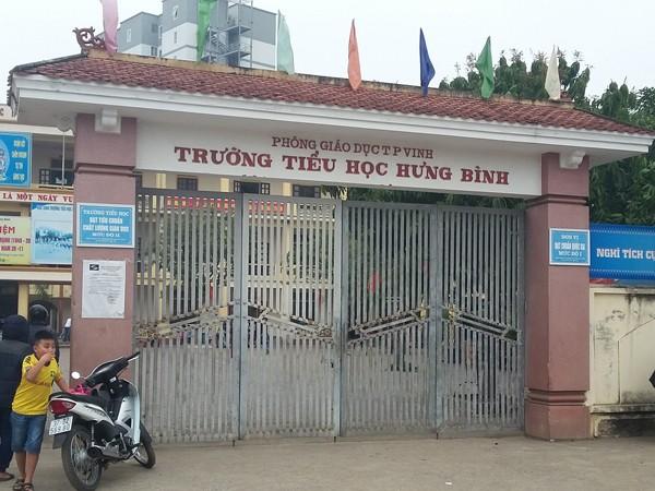Trường Tiểu học Hưng Bình, nơi xảy ra sự việc
