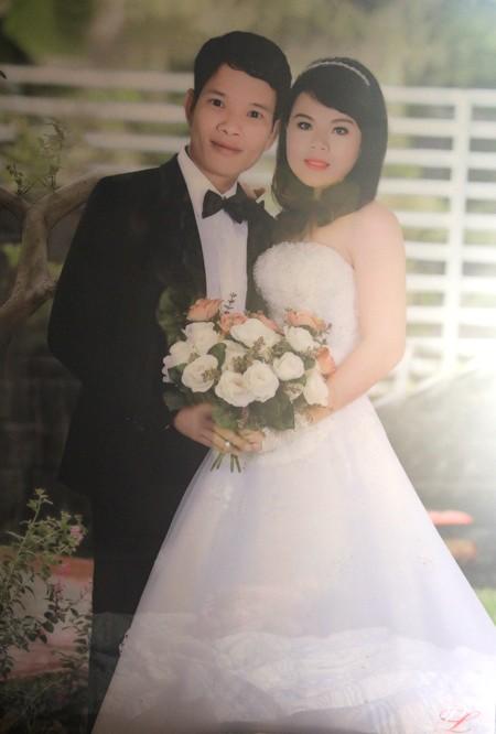 Ảnh cưới của vợ chồng anh Bắc, chị Gấm
