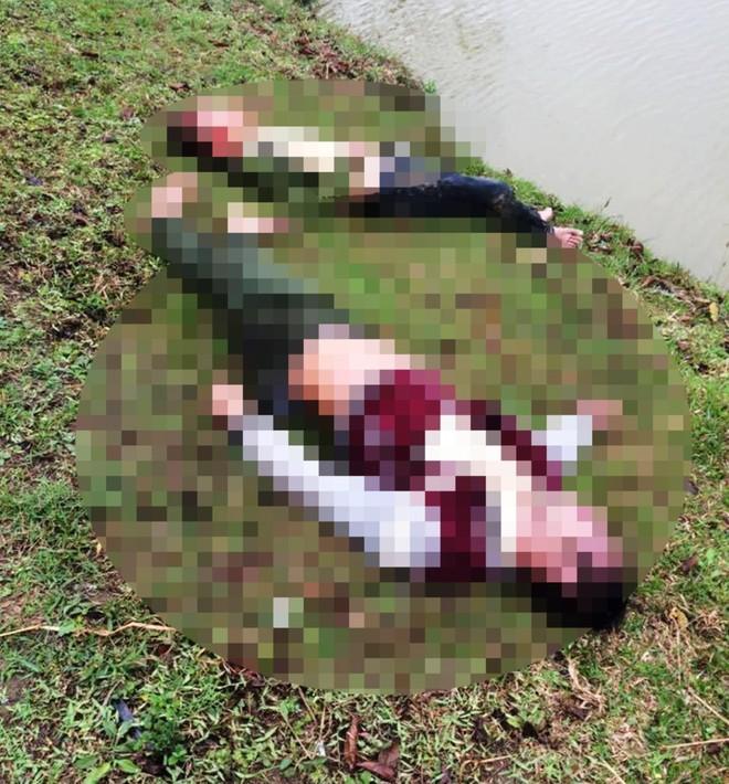 Hiện trường nơi xảy ra vụ tai nạn khiến 1 người chết, 1 người rơi xuống kênh nước