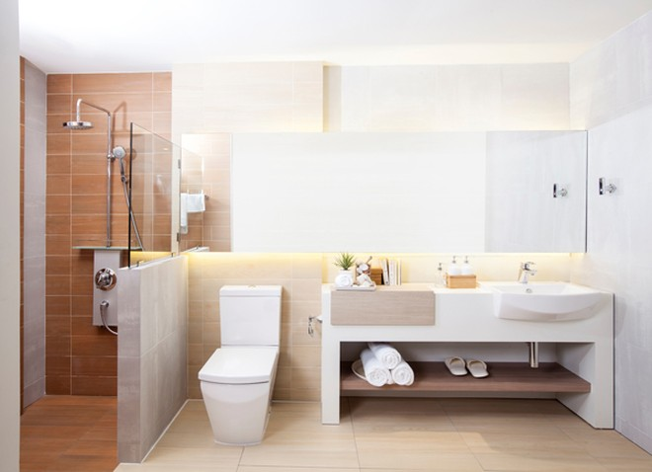 Phòng tắm dành cho cặp đôi mới cưới
