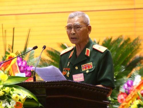 Thiếu tướng Nguyễn Đức Huy, nguyên Tham mưu trưởng mặt trận Vị Xuyên thời kỳ 1985- 1989 làm trưởng ban liên lạc. Ảnh: P.X.