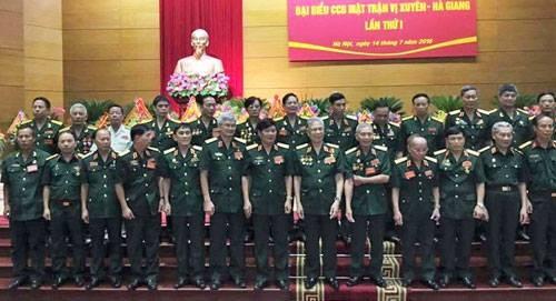 Ban liên lạc mặt trận Vị Xuyên ra mắt tại Hà Nội sáng nay. Ảnh:P.X