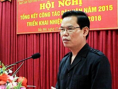 Bí thư Tỉnh ủy Hà Giang Triệu Tài Vinh. Ảnh: PT-HL