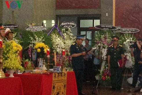 Lễ truy điệu 3 phi công tử nạn trong vụ rơi máy bay ở Vũng Tàu