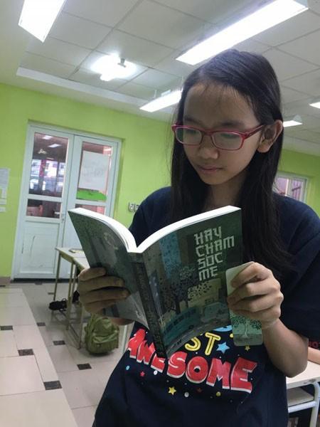 Thái An (học sinh lớp 9A - trường Tiểu học và THCS Pascal) với tác phẩm: Hãy chăm sóc mẹ