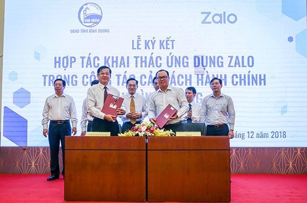 Bình Dương ứng dụng Zalo vào cải cách hành chính, xây dựng mô hình Thành phố thông minh ảnh 1