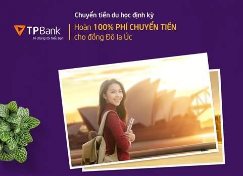 TPBank hoàn 100% phí chuyển tiền du học Úc