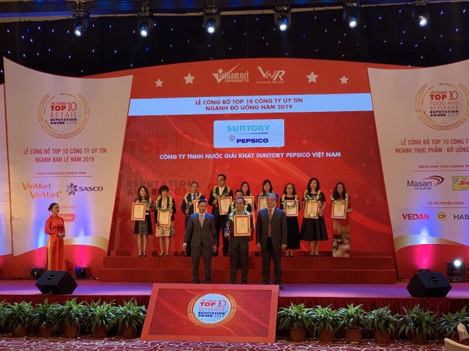 Đại diện Suntory PepsiCo Việt Nam tại lễ trao giải ngày 6/11/2019