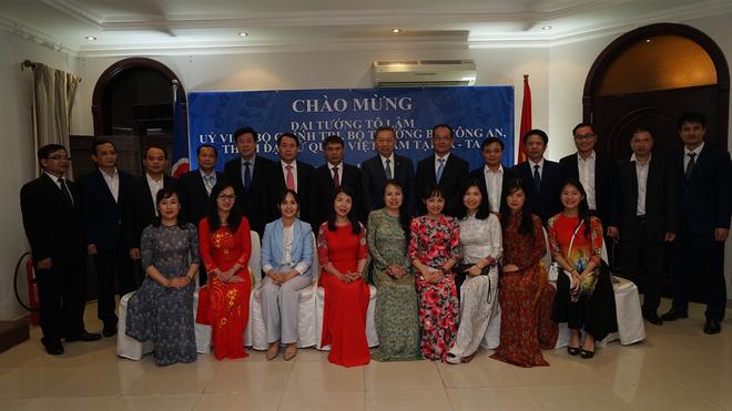 Bộ trưởng Tô Lâm thăm Đại sứ quán Việt Nam tại Qatar ảnh 2