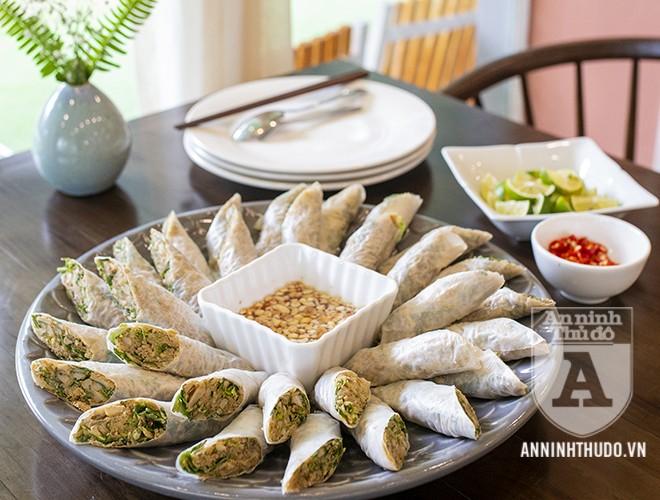 Một món chay của nhà hàng chay thực dưỡng Padman (đường Dương Đình Nghệ, Cầu Giấy, Hà Nội)