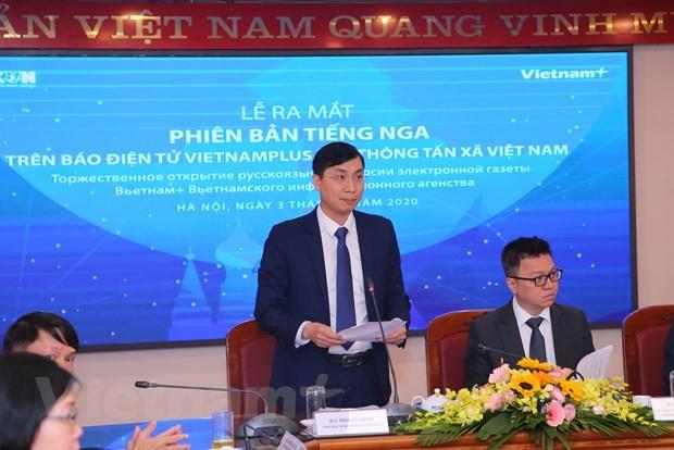 Bao Dien tu VietnamPlus chinh thuc ra mat phien ban tieng Nga hinh anh 3