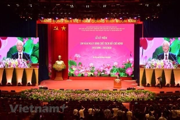 Bai phat bieu cua Tong Bi thu tai Le ky niem 130 nam Ngay sinh Bac Ho hinh anh 1