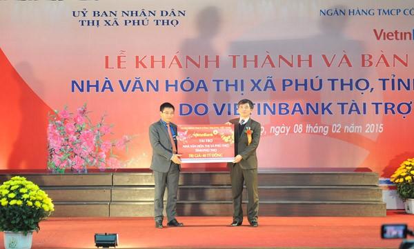 VietinBank tài trợ xây dựng Nhà văn hóa thị xã Phú Thọ ảnh 2