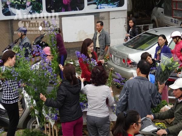 Đổ xô đi mua hoa giá rẻ gây ùn tắc cục bộ trên đường Âu Cơ ảnh 3