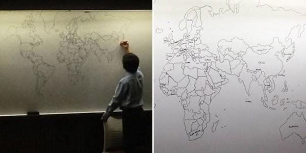 Vẽ bản đồ thế giới bằng trí nhớ ảnh 1