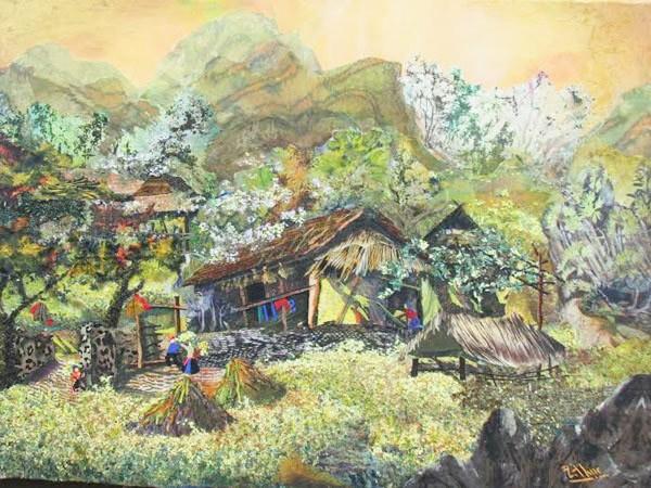 Người Việt Nam duy nhất làm tranh cắt vải ảnh 2