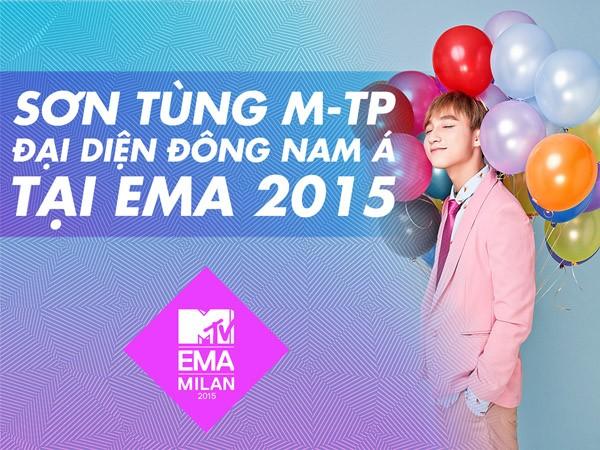 Sơn Tùng M-TP đại diện khu vực Đông Nam Á chạy đua đến MTV EMA 2015 ảnh 1