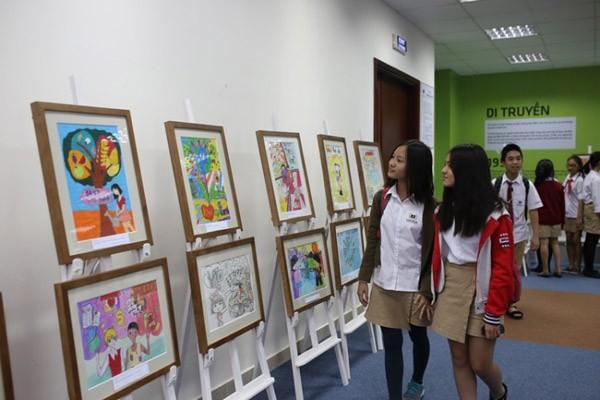 """Học sinh Vinshool đoạt giải Nhì thế giới cuộc thi vẽ """"Chống đói nghèo"""" ảnh 3"""