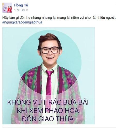 """Nghệ sĩ Việt kêu gọi """"Ngưng xả rác đêm Giao thừa"""" ảnh 8"""