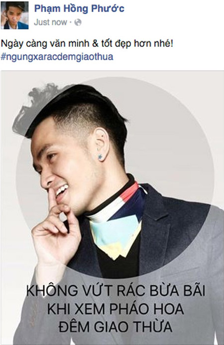 """Nghệ sĩ Việt kêu gọi """"Ngưng xả rác đêm Giao thừa"""" ảnh 4"""
