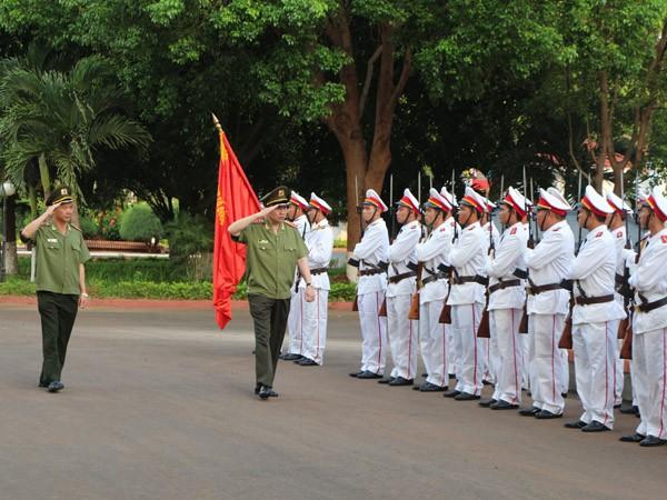 Thượng tướng Tô Lâm, Bộ trưởng Bộ Công an thăm và làm việc tại Công an tỉnh Đắk Lắk ảnh 1