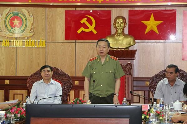 Thượng tướng Tô Lâm, Bộ trưởng Bộ Công an thăm và làm việc tại Công an tỉnh Đắk Lắk ảnh 2