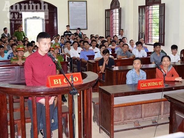 Bị cáo Đào Văn Huân tại phiên tòa xét xử