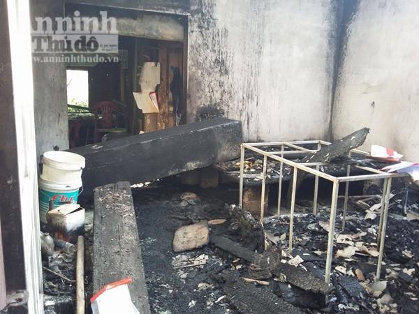 Ngôi nhà cháy rụi sau vụ hỏa hoạn