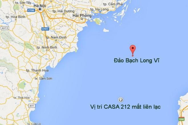 Vị trí máy bay CASA 212 mất liên lạc