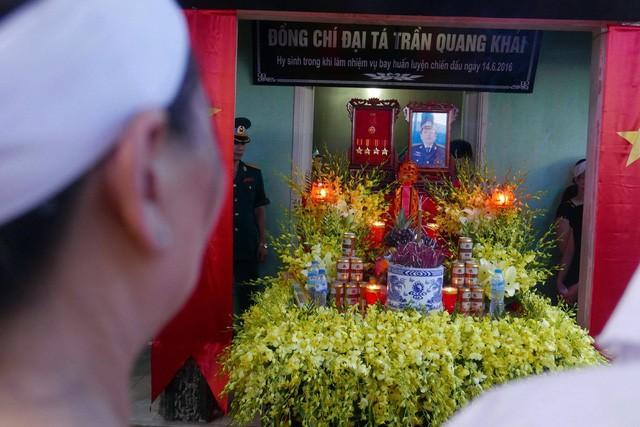 Ban thờ Đại tá Trần Quang Khải lập tại quê nhà
