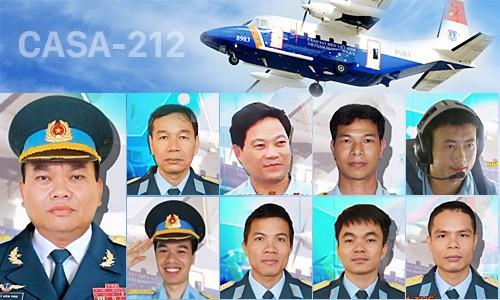 9 thành viên phi hành đoàn máy bay CASA 212 hi sinh trong khi làm nhiệm vụ tìm kiếm cứu nạn trên vùng biển Bạch Long Vỹ