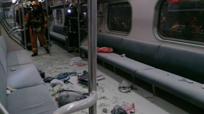 Hiện trường vụ nổ tàu điện ngầm tại Đài Loan