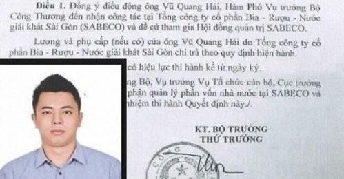 Phó Thủ tướng Trương Hòa Bình yêu cầu Bộ trưởng Bộ Công thương báo cáo về việc cổ phần hóa và bổ nhiệm ông Vũ Quang Hải trước ngày 30-7 tới