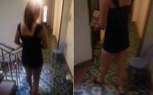 """Sau khi phục vụ khách, nhân viên cơ sở massage M.H ra hành lang lấy sổ rồi ghi """"công"""""""