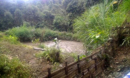 Ao nước nơi phát hiện thi thể chị Tẩn Tả Mẩy