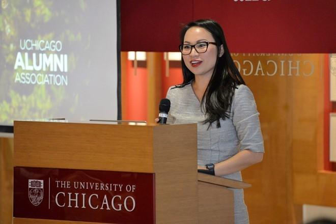 Tiến sĩ Kimberly Kay Hoang (33 tuổi) đang giảng dạy tại Đại học Chicago. Ảnh: uchicago